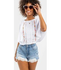 bonnie embroidered blouse - white