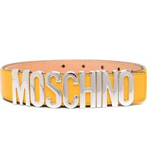 moschino logo-lettering belt - yellow