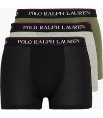 polo ralph lauren classic trunk 3-pack boxershorts black/green