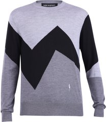 neil barrett intarsia sweater