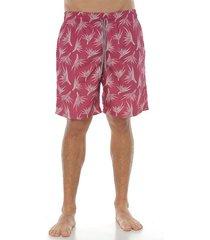 pantaloneta de baño, color coral para hombre