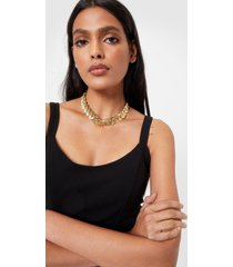 womens be-leaf in yourself chunky chain necklace - gold