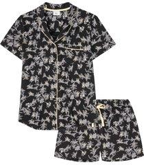 pigiama estivo con bottoni (nero) - bpc bonprix collection