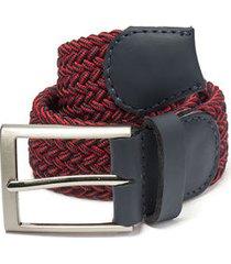 cinturón trenzado rojo combinado azul doshka