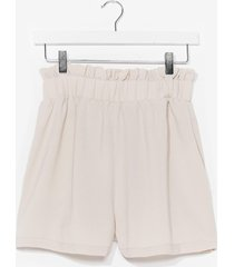 womens paperbag it up relaxed shorts - stone