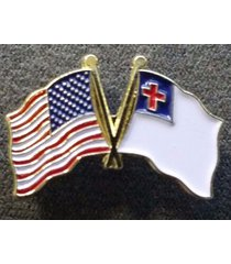 5 - high quality american flag and christian pins - us u.s. usa u.s.a. hat lapel