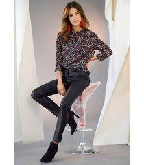 blouse amy vermont zwart::multicolor