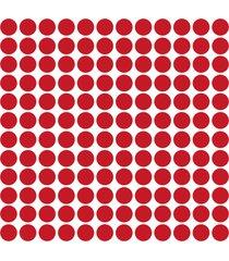 adesivo de parede bolinhas vermelhas 144un - vermelho - dafiti