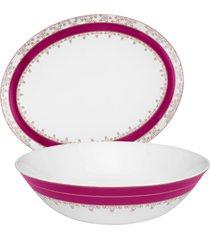 conjunto de baixelas com 2 peã§as flamingo dama de honra - multicolorido - dafiti