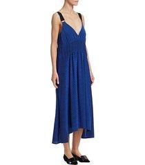 cami silk printed slip dress