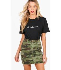 woman signature t-shirt, black