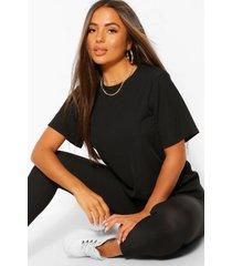 petit t-shirt en leggings lounge set, zwart
