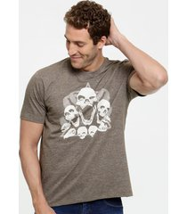 camiseta masculina flamê estampa frontal manga curta mr