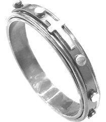 anel prata mil terço giratório prata