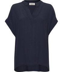 connor top blouses short-sleeved blå modström