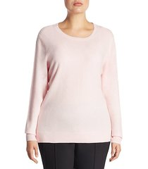 plus crewneck cashmere knitted sweater
