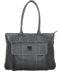 """women's pebbled faux leather 16"""" laptop business travel tote"""