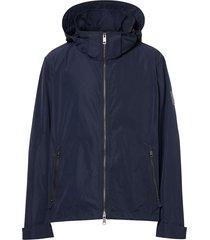 burberry packaway hood shape-memory taffeta jacket - blue