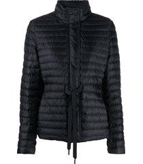 michael michael kors drawstring-waist padded jacket - black