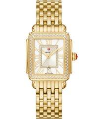women's michele deco diamond watch head & bracelet, 29mm