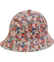 gucci floral print bucket cap - pink