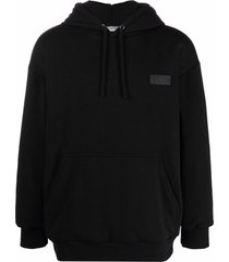 valentino vltn logo patch relaxed hoodie