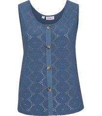 top in pizzo traforato (blu) - john baner jeanswear