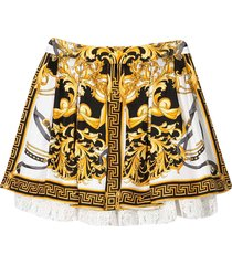 young versace skirt with multicolor baroque press