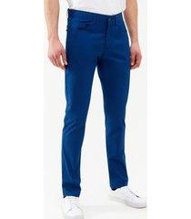 pantalón casual liso azul perry ellis