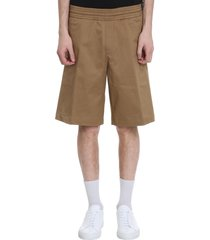 neil barrett shorts in beige cotton