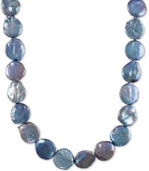 """40"""" cultured freshwater gray coin pearl (18-23mm) strand necklace"""