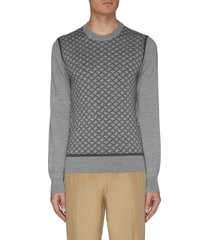 monogram crewneck knit sweatshirt