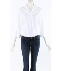 belford white cotton knit open front sweater white sz: xl