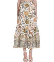 edie skirt in multicolor cotton