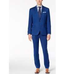 kenneth cole reaction men's skinny-fit ready flex stretch solid shine suit