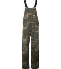 carhartt wip camouflage print overalls - green