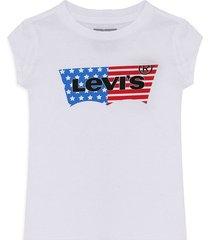 camiseta blanco-azul-rojo levi's kids