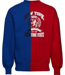 cut through crest sw sweat-shirt trui rood hilfiger collection