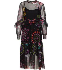 vest portland jurk knielengte zwart desigual