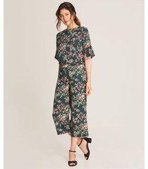 pantalón culotte floral