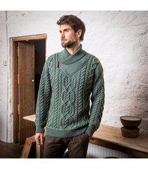 the errigle shawl sweater green l