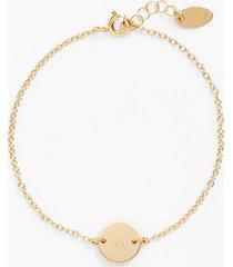 nashelle initial mini disc bracelet in 14k gold fill m at nordstrom