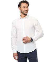 camisa casual blanca  guy laroche