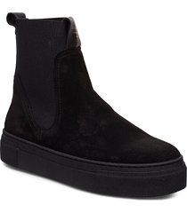 marie chelsea shoes boots ankle boots ankle boot - flat svart gant