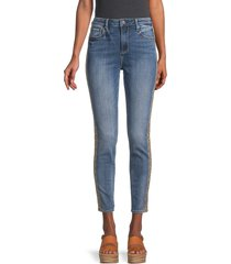 driftwood women's jackie high-rise side-embroidered jeans - light wash - size 25 (2)