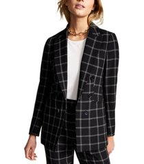 bar iii windowpane jacket, created for macy's