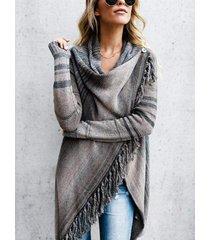 suéter gris de borla diseño suéter