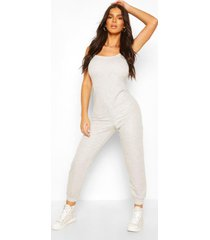 2-in-1 hemd en joggingbroek jumpsuit, grijs