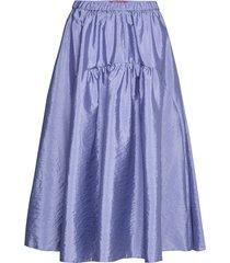 narrare knälång kjol blå max&co.