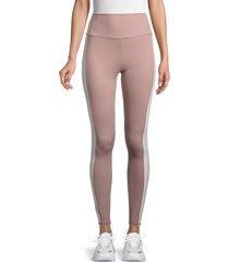all fenix women's gigi high-waist colorblock leggings - tan cream - size s